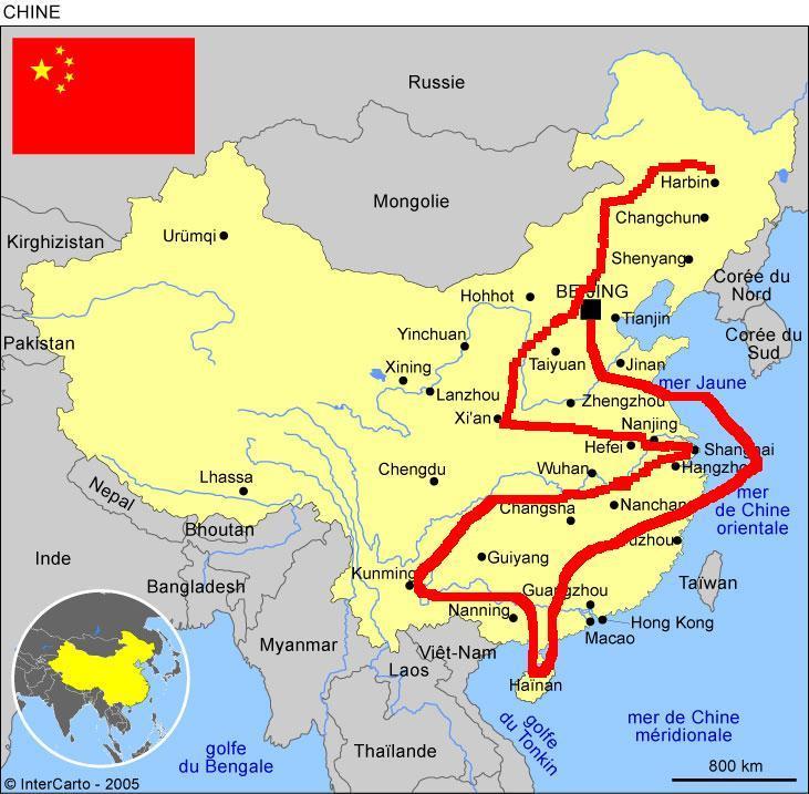 carte muraille de chine Destination EMPIRE DU MILIEU   Page 5